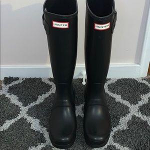 Hunter Original Tall Matte Black Rain Boots